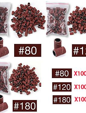 voordelige Ander Gereedschap-100 stks nail art schuurbanden set voor nagelboormachine bits manicure pedicure