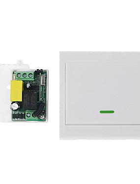 preiswerte Unterhaltungselektronik-ac220v 1ch drahtloses Fernsteuerungsschaltersystem / Rf-Empfänger-Übermittler 1 knöpfen Direktübertragung 433.92mhz