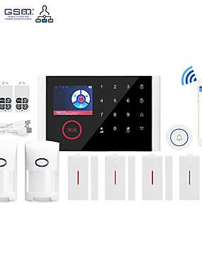 preiswerte Schutz & Sicherheit-WiFi + GSM Multi-Netzwerk-Sprache Wireless GSM Alarmanlage WiFi Home Alarm Host Wireless Türklingel Alarmanlage Andere / Home Alarmanlagen / Alarm Host GSM + WiFi iOS / Android-Plattform GSM + WiFi