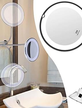 preiswerte Kosmetikspiegel-flexibler Schwanenhals LED Kosmetikspiegel 10x Vergrößerungs Make-up mit LED-Licht Saugnapf an der Wand montierten Kosmetikspiegel