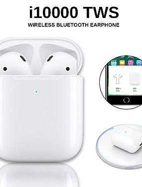 povoljno NewIn-originalni i10000 tws bežične slušalice bluetooth 5.0 slušalice touch touch prijenosne sportske slušalice bežične qi napune provjerite automatsko otkrivanje uha i zaustavite skočni prozor s ios