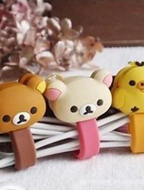 preiswerte Black friday-kleiner weißer Bär / reizender Spielzeugformkabel-Schnurhalter