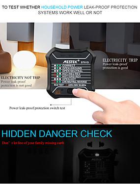 preiswerte Unterhaltungselektronik-MESTEK ST01D/ST01E Steckdosentester Digitalanzeige Für die Installation bei der Hausinstallation