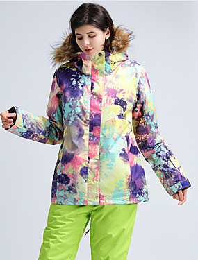 cheap Sports & Outdoors-GSOU SNOW Women's Ski Jacket with Pants Winter Sports Ski Skiing Winter Sports POLY Clothing Suit Ski Wear / Camo / Camouflage