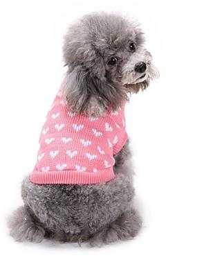 cheap Toys & Hobbies-Dogs Sweater Winter Dog Clothes Pink Costume Corgi Beagle Shiba Inu Acrylic Fibers Love Sweet Style Casual / Daily XS S M L XL XXL