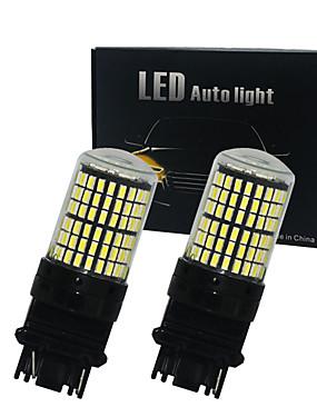 povoljno Svjetla za vožnju unatrag-2pcs / lot canbus t25 3156 p27w 3157 p27 / 7w 144smd 4014 vodio automobilsku žarulju automobil drl pokazivač svjetla kočnica svjetlosni zazor vodio bijelo žuto žuto 12v-24v
