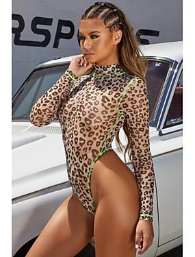preiswerte Damen Jumpsuits-Damen Boho / Street Schick Jumpsuit, Leopard Patchwork / Druck S M L
