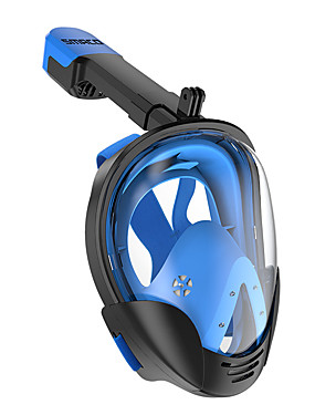 cheap Sports & Outdoors-Diving Mask Underwater 180 Degree View Anti Fog Single Window - Diving Snorkeling Scuba Silicone - For Adults Orange Green Blue Black