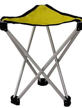 cheap Sports & Outdoors-Camping Stool Tri-Leg Stool Portable Anti-Slip Foldable Comfortable Aluminum Alloy Oxford for 1 person Camping Camping / Hiking / Caving Traveling Picnic Autumn / Fall Spring Yellow Orange Gold Blue