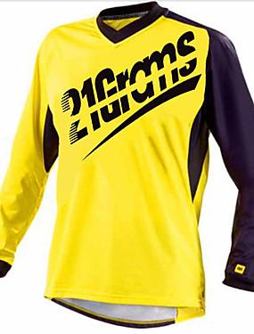 povoljno Odjeća za motocikle-21Grams Muškarci Dugih rukava Biciklistička majica Dirt Bike Jersey Red / White Crna / crvena Blue + Orange Bicikl Biciklistička majica Hlače Majice Brdski biciklizam biciklom na cesti UV otporan