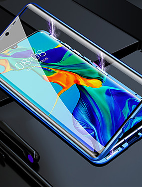 cheap Huawei Case-Double Sided Glass Metal Magnetic Case for Huawei P30 P30 Lite P20 P20 Pro P20 Lite Mate 20 Mate 20 Lite Honor 8X 9X 9X Pro 20 20 Pro