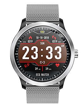 preiswerte Handys & Elektronik-dn58 smartwatch edelstahl bt fitness tracker unterstützung benachrichtigen / ecg / blutdruckmessung sport smart watch für samsung / iphone / android phones