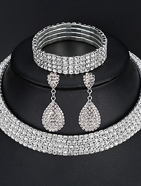 povoljno Ženski nakit-Žene Komplet nakita Nakit za gležanj Viseće naušnice asfaltirati Zvjezdana prašina Europska Moda Elegantno Talijanski Svaki dan Iced Out Imitacija dijamanta Naušnice Jewelry 2 reda / 3 reda / 4 reda