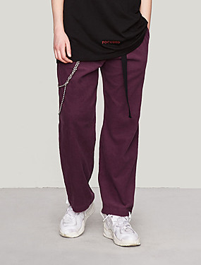 cheap Sports & Outdoors-Men's Women's Running Pants Track Pants Sports Pants Corduroy Pants Athletic Pants / Trousers Athleisure Wear Bottoms Retro Fleece Corduroy Sport Running Walking School Windproof Warm Soft Purple