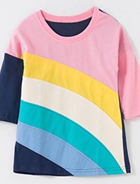 preiswerte Unter €9.9-Kinder Mädchen Grundlegend Geometrisch Langarm Bluse Rosa