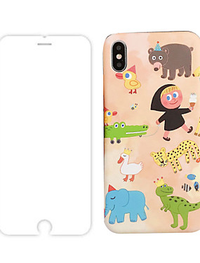 preiswerte Telefone & Zubehör-fall mit displayschutzfolie für apple iphone 11 / iphone 11 pro / iphone 11 pro max staubdicht rückseitige abdeckung cartoon tpu für iphone 7/7 p / 8/8 p / 6/6 plus / x / xs / xr / xs max