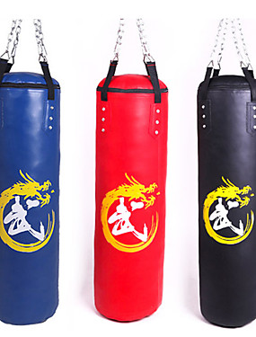 cheap Sports & Outdoors-Punching Bag Heavy Bag Kit For Taekwondo Boxing Karate Martial Arts Adjustable Durable Empty Strength Training 360° Rotation PU 1 pcs Adults - Black Red Blue