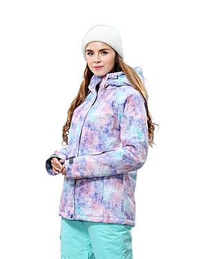 cheap Sports & Outdoors-Wild Snow Women's Ski Jacket Skiing Snowboarding Winter Sports Thermal / Warm Waterproof Windproof Polyester Other Windbreaker Warm Top Ski Wear