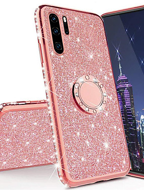 cheap Huawei Case-3D Diamond Glitter Bling Soft TPU Cover Phone Case For Huawei P30 Pro P30 Lite P20 Pro P20 Lite Mate 30 Pro Mate 20 Pro Mate 20X Mate 20 Lite Honor 10 Lite P Smart 2019 With Car Ring Holder