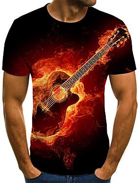 preiswerte NewIn-Herrn 3D / Grafik / Buchstabe - Street Schick / Übertrieben T-shirt Gefaltet / Druck Rote