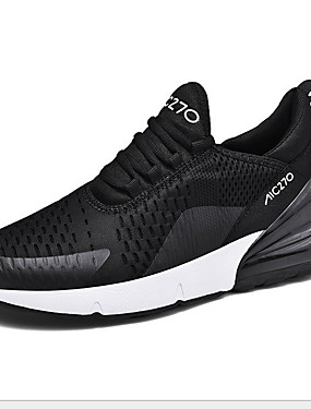 cheap Sports & Outdoors-Men's Comfort Shoes Cowhide Winter Athletic Shoes Running Shoes Black / Red