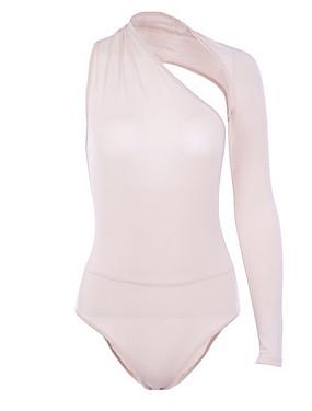 preiswerte Damen Jumpsuits-Damen Schwarz Weiß Rosa Overall, Solide S M L