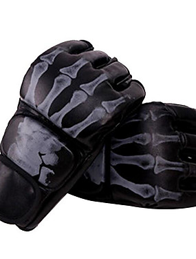 cheap Sports & Outdoors-Boxing Bag Gloves Boxing Training Gloves Grappling MMA Gloves For Taekwondo Boxing Karate Mixed Martial Arts (MMA) Fingerless Gloves Multifunctional Adjustable Breathable Unisex - Black White