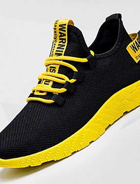 cheap Sports & Outdoors-Men's Comfort Shoes Winter Sporty / Casual Athletic Daily Outdoor Trainers / Athletic Shoes Running Shoes Canvas Breathable Non-slipping Shock Absorbing Mid-Calf Boots Yellow / Red / White Color