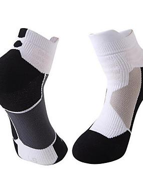 preiswerte Laufmützen, Socken & Arm - Wärmer-Herrn Damen Laufsport Socken Sportsocken Socken Söckchen Fitness, Laufen & Yoga Sport Laufen 1 Paar Sport Einfache Baumwolle Chinlon Schwarz Grau / Dehnbar