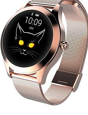 preiswerte Intelligente Elektronik-kw10 Joker Smartwatch Gold Edelstahl BT Fitness Tracker Unterstützung benachrichtigen / Pulsmesser Sport Smart Watch für Samsung / iPhone / Android-Handys