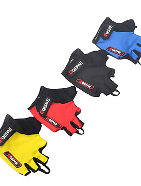 cheap Sports & Outdoors-QEPAE Bike Gloves / Cycling Gloves Anti-Shake / Damping Wearable Skidproof Fingerless Gloves Sports Gloves Black Yellow Red for Adults' Road Cycling Outdoor Exercise Multisport