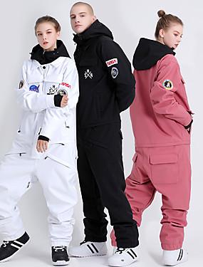 cheap Sports & Outdoors-GSOU SNOW Men's Women's Ski Suit Skiing Camping / Hiking Winter Sports Waterproof Windproof Warm Polyster Tracksuit Ski Wear