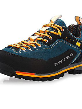cheap Sports & Outdoors-Men's Sneakers Hiking Shoes Mountaineer Shoes Rubber Hiking Leisure Sports Backcountry Waterproof Breathable Anti-Slip Nubuck leather Leather Blue Red Green / Cushioning / Ventilation