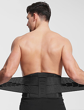 cheap Sports & Outdoors-AOLIKES Lumbar Belt / Lower Back Support 1 pcs Sports Nylon Polyster Exercise & Fitness Gym Workout Weightlifting Durable Support Protection For Men Women