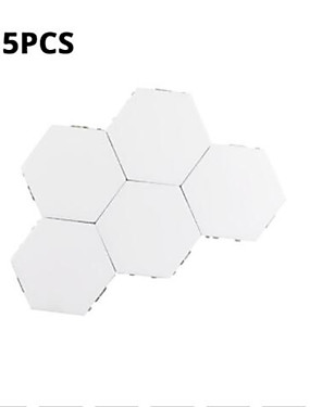 cheap Novelty Lighting-5 Sets Of Modular Touch Sensitive Lighting Hexagonal Lamp Creative Magnetic Night Lamp Wall Decoration Lampara