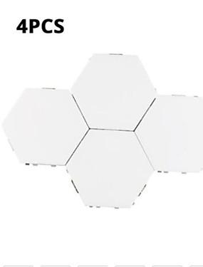 cheap Novelty Lighting-Four Modular Touch Sensitive Lighting Hexagonal Lights Creative Magnetic Night Light Wall Decoration Lampara
