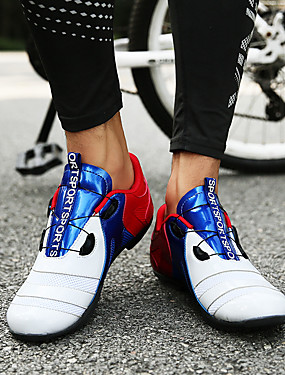 cheap Sports & Outdoors-Adults' Bike Shoes Mountain Bike Shoes Road Bike Shoes Nylon Breathable Anti-Slip Mountain Bike MTB Road Cycling Outdoor Exercise Red / White Orange+White Blue+Orange Men's Women's Cycling Shoes