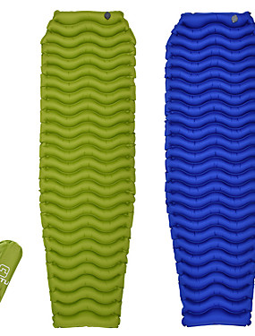 cheap Sports & Outdoors-AOTU Inflatable Sleeping Pad Outdoor Camping Portable Moistureproof Wearproof Outdoor Nylon 200*200 cm for 4 Camping / Hiking Climbing Outdoor All Seasons Green Blue