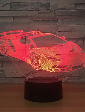 billige Originale lamper-belysningsstudie ledet lys / bil hjem / lys usb kreativ akryl / omgivende berøringsbordlampe / 3d fargerik gave nattlys