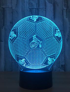 cheap Novelty Lighting-Black background / Cross-border home explosion models led football / 3d lights / novelty creative gifts / touch desk lamp smart sensor / night light