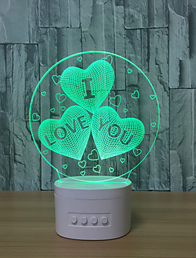 cheap Novelty Lighting-White background / 2019 running rivers and lakes stalls 3D night light / new exotic electronics / usb bluetooth speaker / creative led table lamp