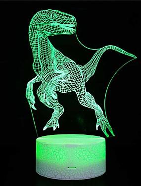 billige Originale lamper-sprekk seksjon / amazon eksplosjon modeller / hjemme dinosaur 3d nattlys / led fargerike lys / usb drevet nattbord kreative / gave bordlampe