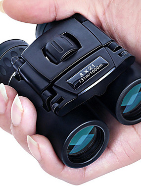 cheap Sports & Outdoors-8 X 21 mm Binoculars Porro Waterproof Portable Night Vision in Low Light Fully Multi-coated BAK4 Camping / Hiking Hunting and Fishing Traveling Night Vision / Bird watching