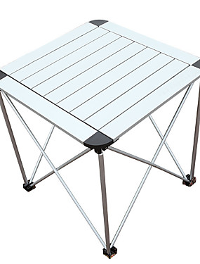 cheap Sports & Outdoors-Camping Table Portable Ultra Light (UL) Foldable Folding Aluminium alloy for 1 - 2 person Camping / Hiking Fishing Outdoor Travel Autumn / Fall Spring Silver