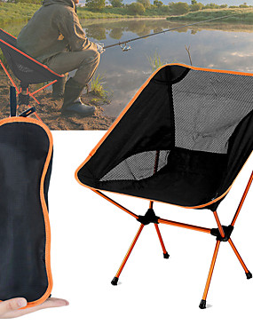 cheap Sports & Outdoors-Camping Chair Multifunctional Portable Breathable Ultra Light (UL) Aluminium Alloy 7005 Mesh Oxford for 1 person Fishing Beach Camping Travel Autumn / Fall Spring Dark Blue Navy Blue Fuchsia