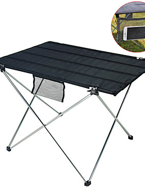 cheap Sports & Outdoors-Camping Table with Side Pocket Portable Ultra Light (UL) Foldable Folding Aluminium alloy Oxford for 1 - 2 person Camping / Hiking Fishing Beach Camping Autumn / Fall Spring Black