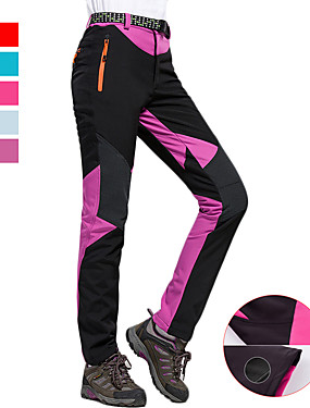 cheap Sports & Outdoors-Women's Hiking Pants Softshell Pants Outdoor Thermal / Warm Windproof Breathable Rain Waterproof Winter Fleece Softshell Pants / Trousers Bottoms Running Camping / Hiking Exercise & Fitness Light