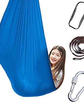 cheap Sports & Outdoors-Aerial Yoga Swing Set Yoga Hammock / Sling Kit Extension Straps Sports Nylon Aerial Yoga Inversion Exercises Air Yoga Ultra Strong Antigravity Durable Anti-tear Decompression Inversion Therapy Heal