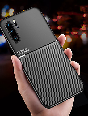 cheap Huawei Case-Magnetic Car Phone Case for Huawei P30 P30 Pro P30 Lite Magnet Plate Shockproof Hybrid Silicone P20 P20 Pro P20 Lite