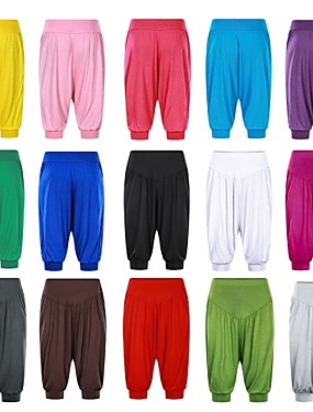 cheap Sports & Outdoors-Women's High Waist Yoga Pants Harem Bloomers Capri Pants Quick Dry White Black Purple Modal Zumba Gym Workout Running Plus Size Sports Activewear High Elasticity Loose / Burgundy / Royal Blue